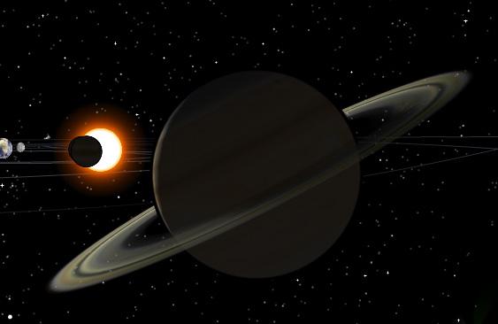 модель солнечной системы 3d